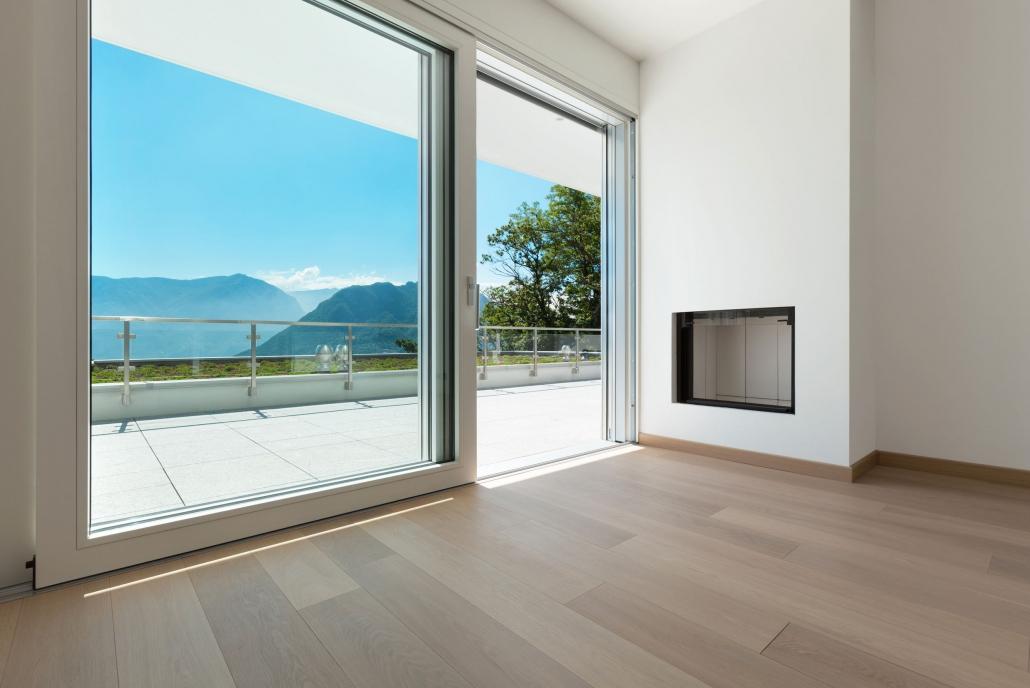 Porte finestre scorrevoli in pvc fornitura e installazione for Porte scorrevoli pvc